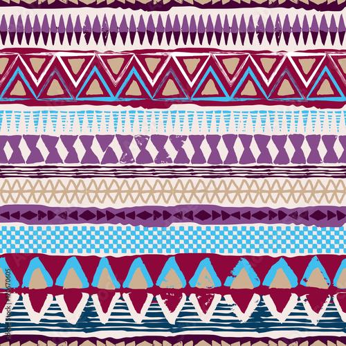 Abstract tribal vector seamless ornament. Cloth boho texture - 120670605
