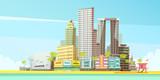 Fototapety Miami Skyline Design Concept