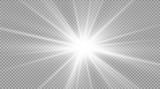 Fototapety Glow light effect. Star burst with sparkles. Vector illustration