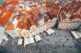 View from the Town Hall  tower on Old Town Square in Prague