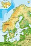 Scandinavia-physical map  - 120689236