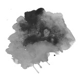 Fototapety Black watercolor stain. Watercolor texture background