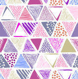 colorful triangle print - seamless background - 120732211