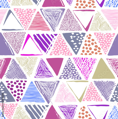 colorful triangle print - seamless background