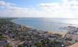 View over Provincetown, Massachusetts toward East Harbor.