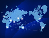 世界地図 ビジネス グローバル 日本地図
