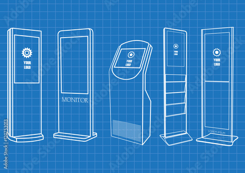 Blueprint of promotional interactive information kiosk advertising blueprint of promotional interactive information kiosk advertising display terminal stand touch screen display malvernweather Images