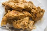 кусочки куриного филе запечёные со специями