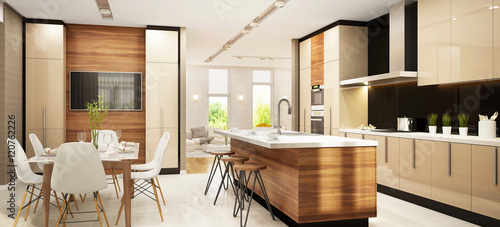Modern large kitchen