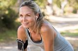 Fototapety Mature woman jogging