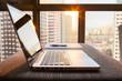 Laptop on office desk.  - 120765892
