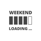 Weekend loading. Business concept. Vector illustration.