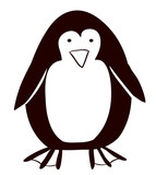 Pinguin cartoon icon. animal of winter theme. Isolated design. Vector illustration