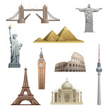 different famous landmarks