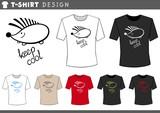 t shirt design with hedgehog