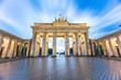 The long exposure view of Brandenburg Gate in Berlin, Germany
