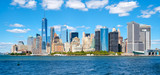 The downtown Manhattan skyline on a beautiful summer day - 120804234
