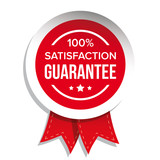 satisfaction guaranteed badge vector