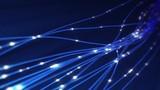 Optical Fibers Transmitting Data Concept