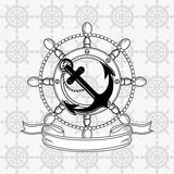 anchor emblem image vector illustration nautical design