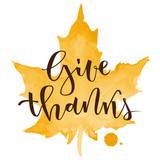 Give thanks greeting - 120847861