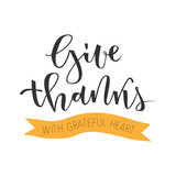 Give thanks greeting - 120848011