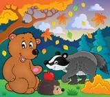 Forest wildlife theme image 4