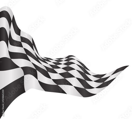 Aluminium F1 race flag background vector illustration