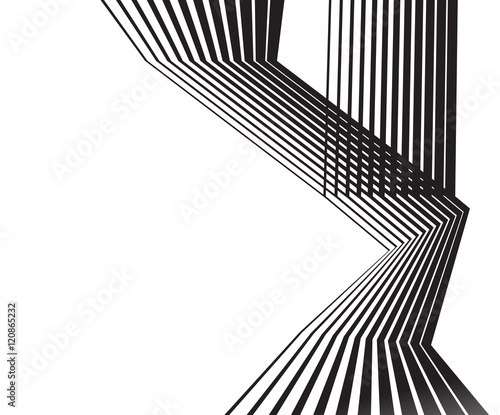 Fotobehang Abstractie optical effect mobius wave stripe design movement