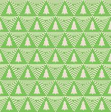 nahtlose Vektor-Muster der Weihnachtsbaum Silhouette und Dreieck Spirale.