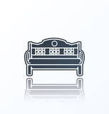Bench Icon on white background.