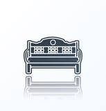 Bench Icon on white background.