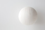 close up of volleyball ball on white