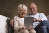 Elderly people with modern technology