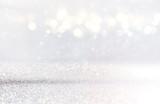 Fototapety glitter vintage lights background. de-focused.