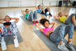 Group of women on fitness training
