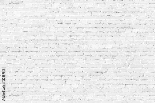 White texture brick wall background