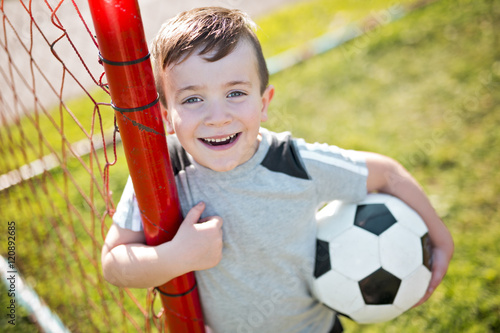 Young caucassian soccer player football - 120892685