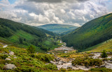 Panoramic view of a valley near Glendalough, County Wicklow, Ireland