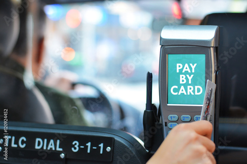 Papiers peints New York TAXI Pay taxi ride by card