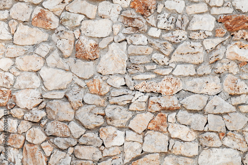 Rough outdoor stone wall background