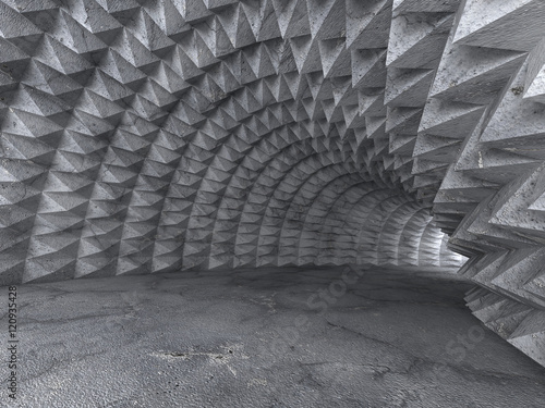Fototapeta  Abstract Concrete Architecture Tunnel With Light Background