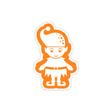 paper sticker on white background Santa