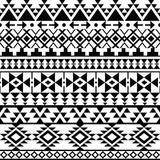 Seamless black Navajo print, Aztec pattern, Tribal design - 120936498