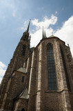 Cathedral Facade of Saints Peter  Paul - Brno - Czech Republic
