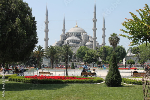Poster Istanbul and Blue Mosque