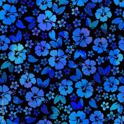 7cccd964144d Hibiscus flowers seamless pattern. Hawaiian Aloha Shirt Seamless Background.