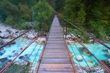 Most w Dolinie Soca, Słowenia
