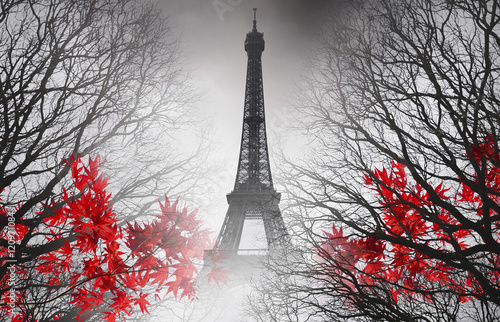 Eiffel Tower in Paris - autumn picture - 120971084