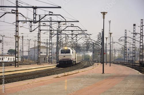 Llegada de un tren, Estación de Alcázar de San Juan, Ciudad Real, España